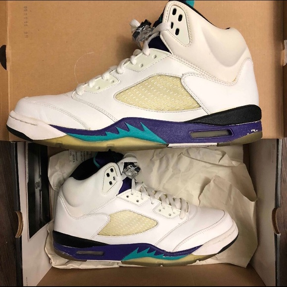 outlet store 22393 9891f Jordan Shoes | 2006 Nike Air 5 Ls Grape Emerald 105 | Poshmark
